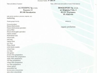ORGANIC CERTIFICATE page.1