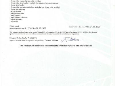 ORGANIC CERTYFICATE page 3